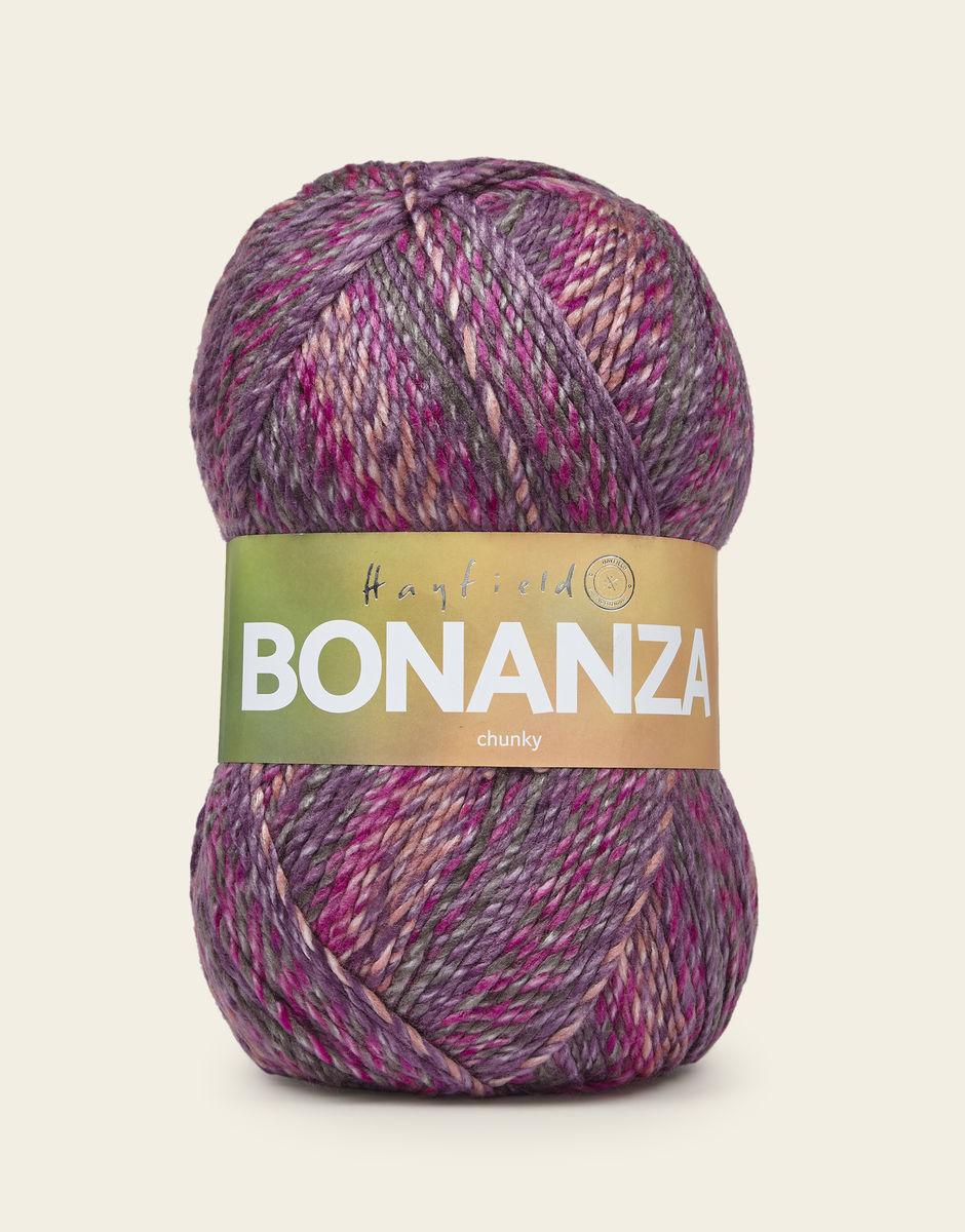 Hayfield BONANZA Chunky Knitting Yarn 400g Raspberry Ripple