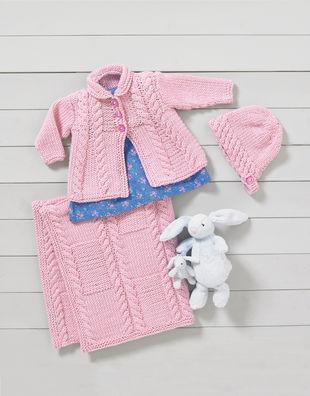 Little Luxury Pink Elephants 100/% Cotton Sweater Knit Baby Blanket NWT